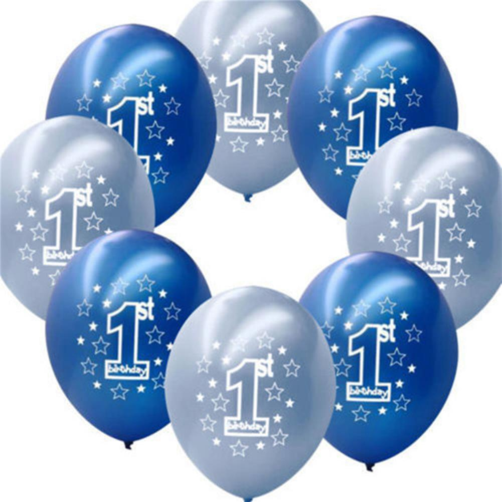 inflatable-toys 10 Pcs Per Set Blue Boy's 1st Birthday Printed inflatable Pearlised Balloons Christmas Decoration HOB1230471