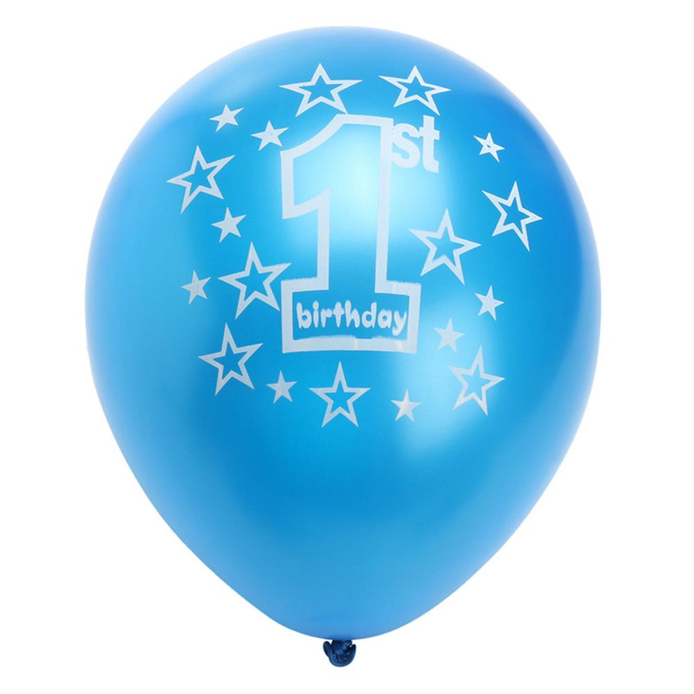 inflatable-toys 10 Pcs Per Set Blue Boy's 1st Birthday Printed inflatable Pearlised Balloons Christmas Decoration HOB1230471 1