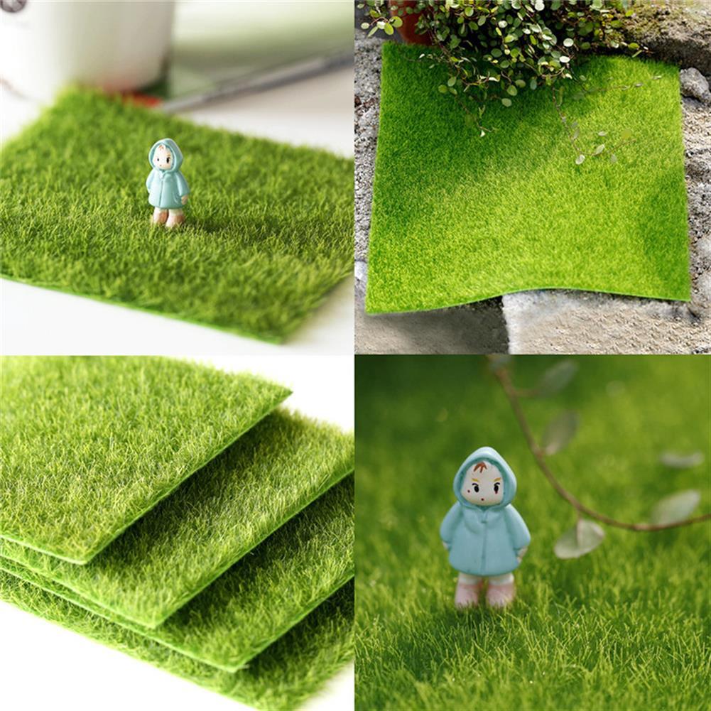 doll-house-miniature 30*30cm Artificial Faux Garden Turf Grass Lawn Moss Miniature Craft Ecology Decor HOB1232305