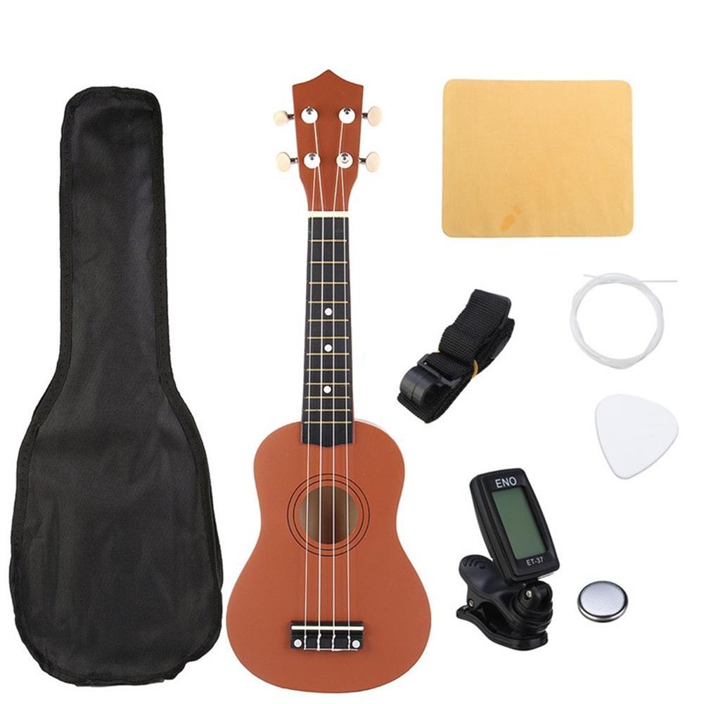 ukulele 21 inch Brown Soprano Basswood Ukulele Uke Hawaii Guitar Musical instrument HOB1232996