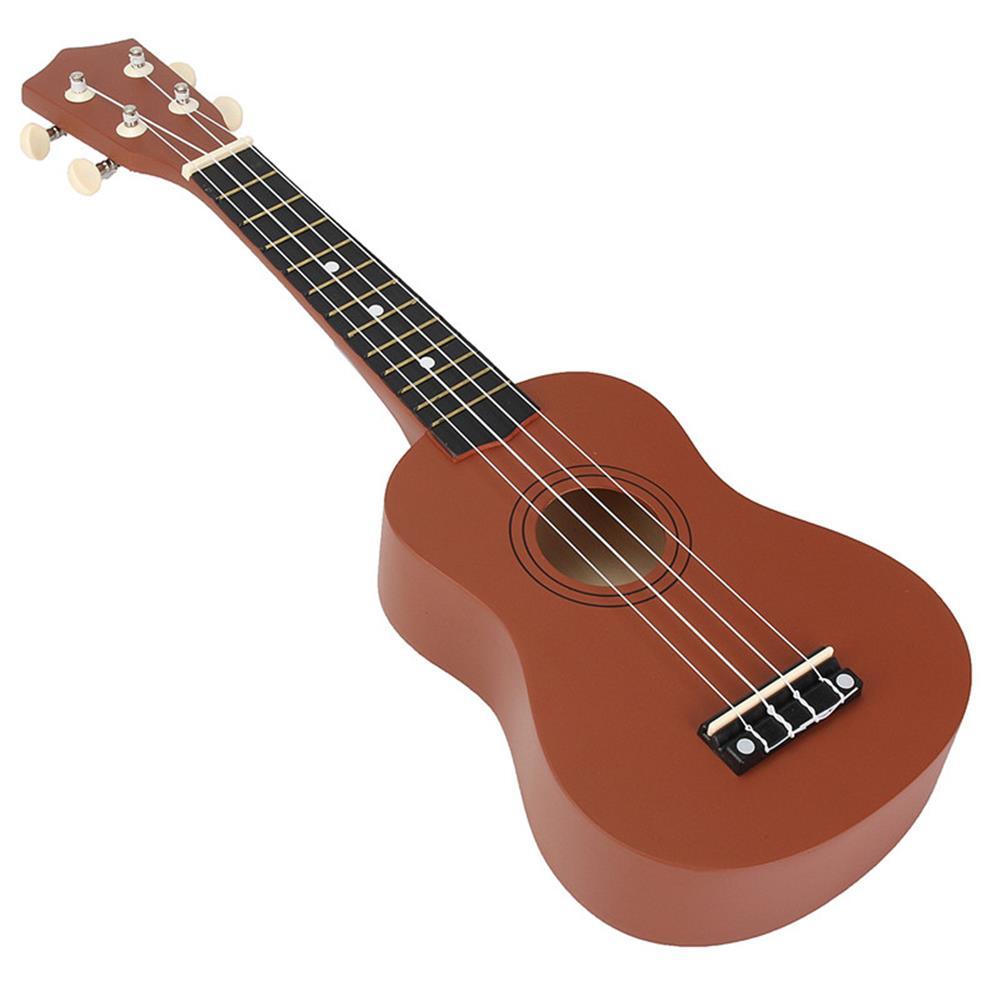 ukulele 21 inch Brown Soprano Basswood Ukulele Uke Hawaii Guitar Musical instrument HOB1232996 2