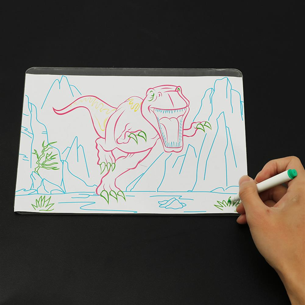 paper-art-drawing 3D Magic Flashing Drawing Board Dinosaur Game for Kids Children Educational Christmas Gift Toys HOB1235445