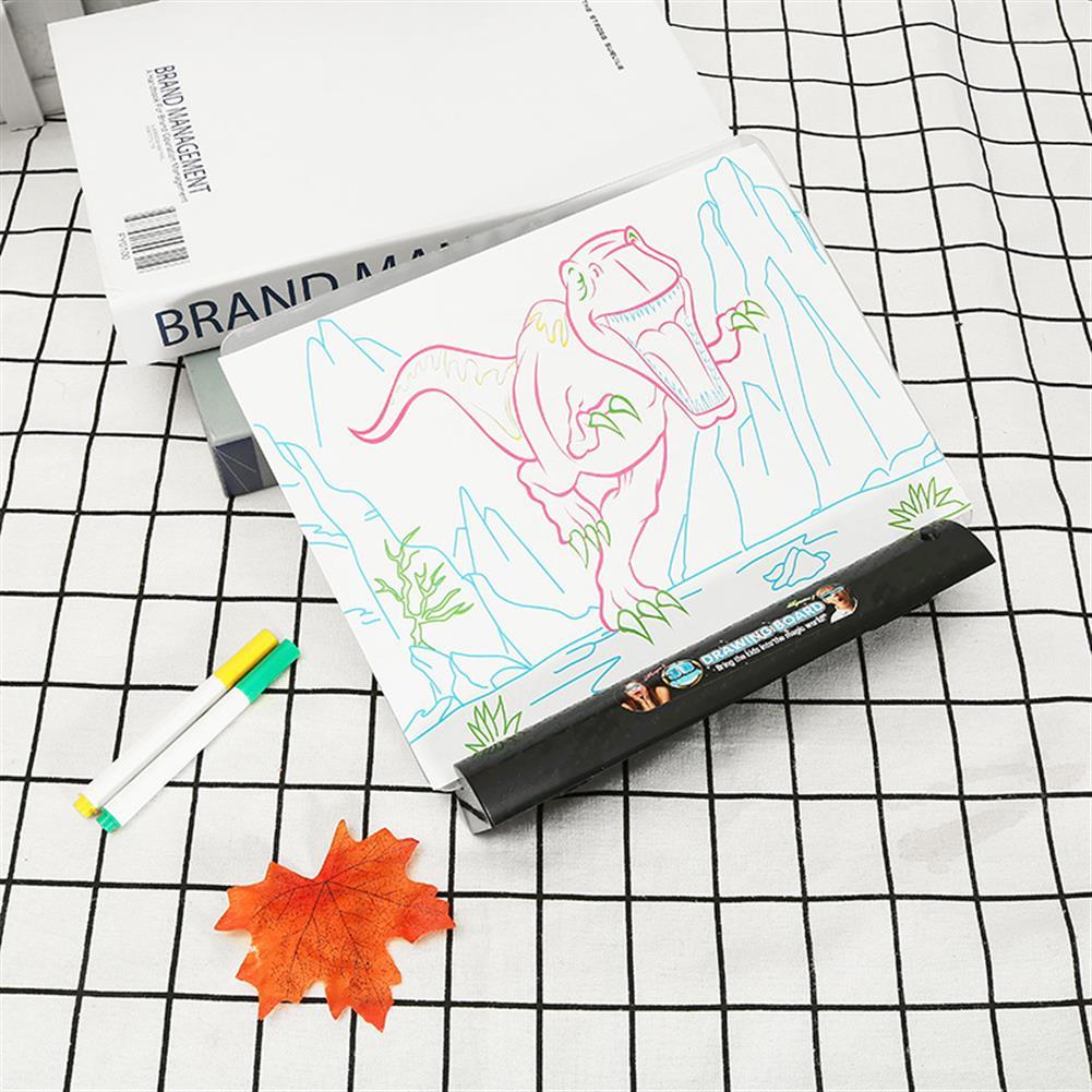 paper-art-drawing 3D Magic Flashing Drawing Board Dinosaur Game for Kids Children Educational Christmas Gift Toys HOB1235445 1