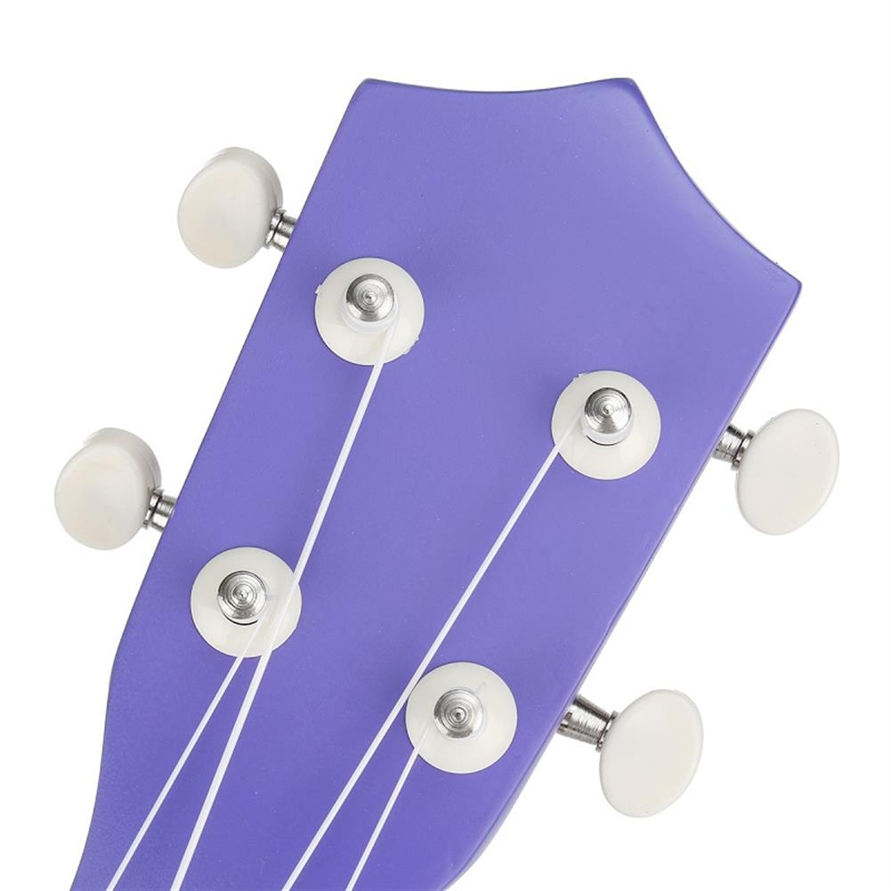 ukulele 21 inch Economic Soprano Ukulele Uke Musical instrument with Gig bag Strings Tuner Purple HOB1235783 3