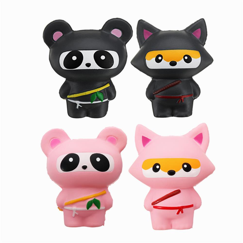 squishy-toys 14cm Cute Jumbo Squishy Ninja Cat Fox Panda Scented Super Slow Rising Kids Toy Gift HOB1242015