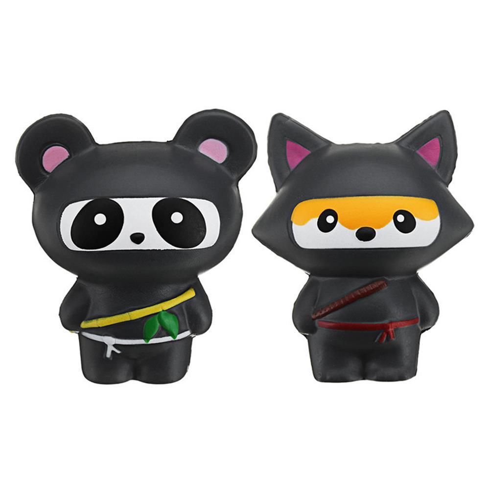 squishy-toys 14cm Cute Jumbo Squishy Ninja Cat Fox Panda Scented Super Slow Rising Kids Toy Gift HOB1242015 1