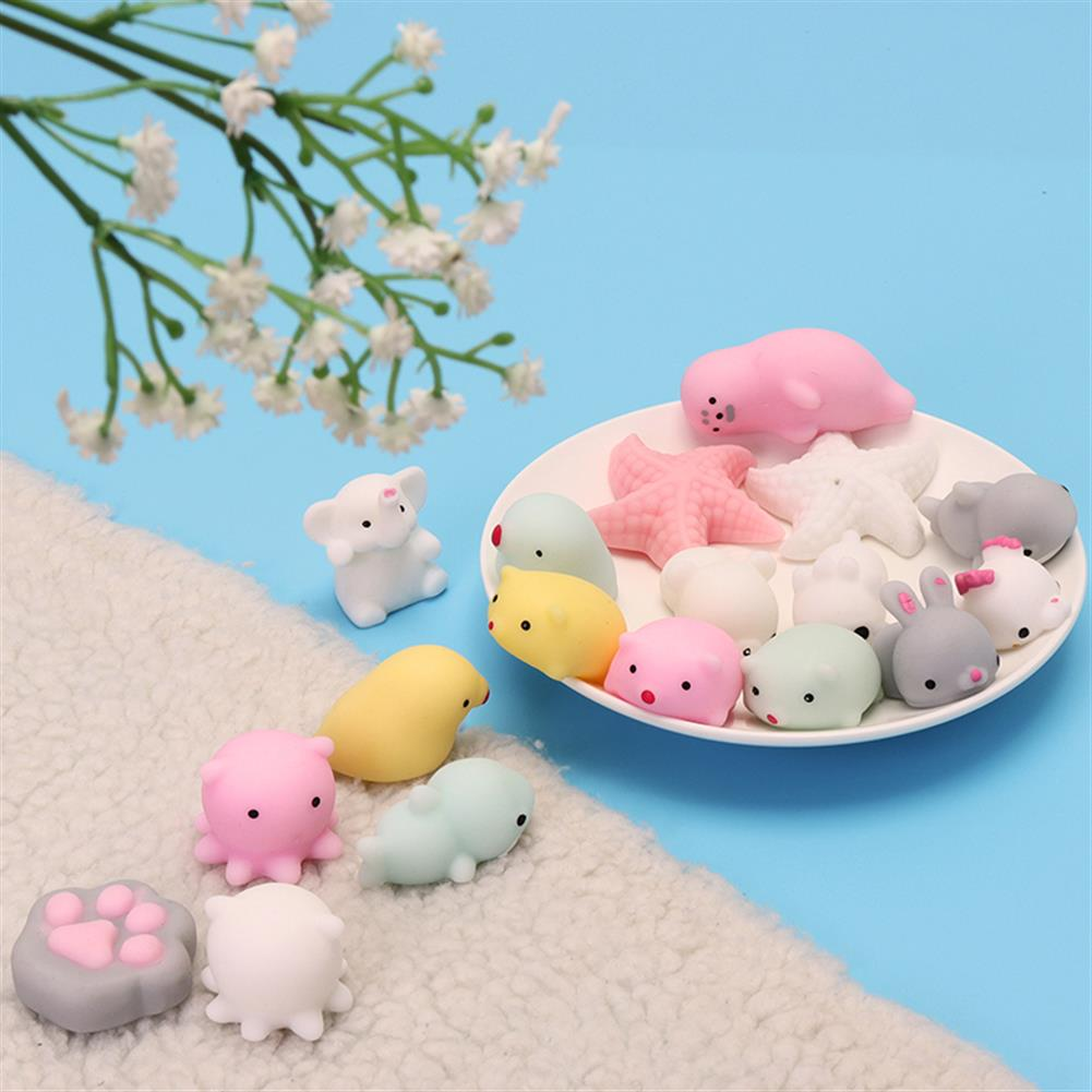 squishy-toys Pink White Starfish Mochi Squishy Squeeze Healing Toy Kawaii Collection Stress Reliever Gift Decor HOB1242826