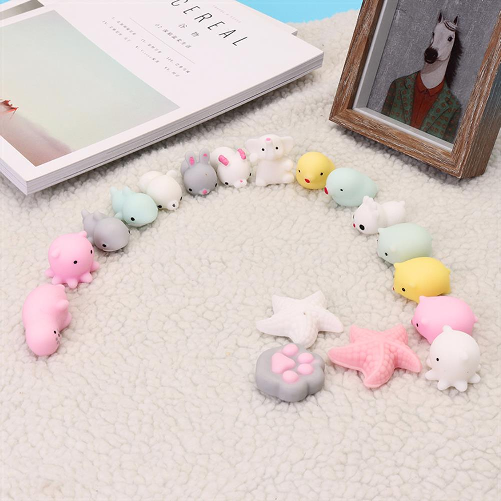 squishy-toys Pink White Starfish Mochi Squishy Squeeze Healing Toy Kawaii Collection Stress Reliever Gift Decor HOB1242826 1