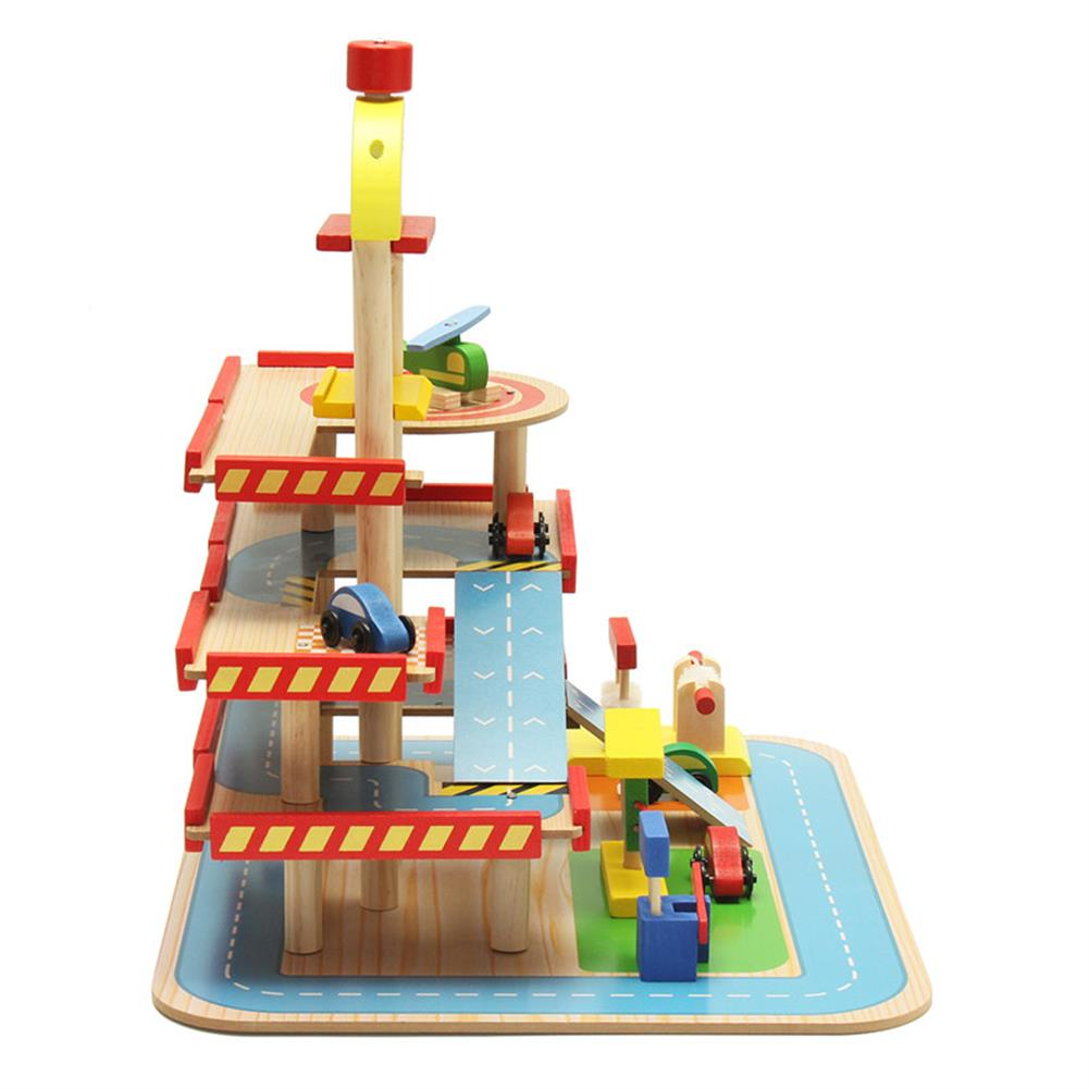 blocks-track-toys Assembling Simulation Large Stereo 3 Layer Wooden Car Parking Lot Track Set for Kids Toys Gift HOB1243291 2