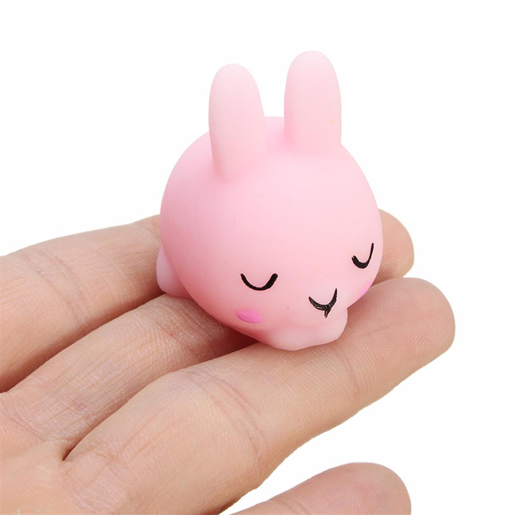 squishy-toys Shy Bunny Rabbit Mochi Squishy Squeeze Healing Toy Kawaii Collection Stress Reliever Gift Decor HOB1243293