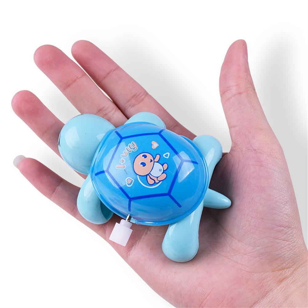 wind-up-tin-toys Cute Cartoon Animal Clockwork Turtle Mini Crawling Wind Up Kids Educational Classic Toy Random Color HOB1243487
