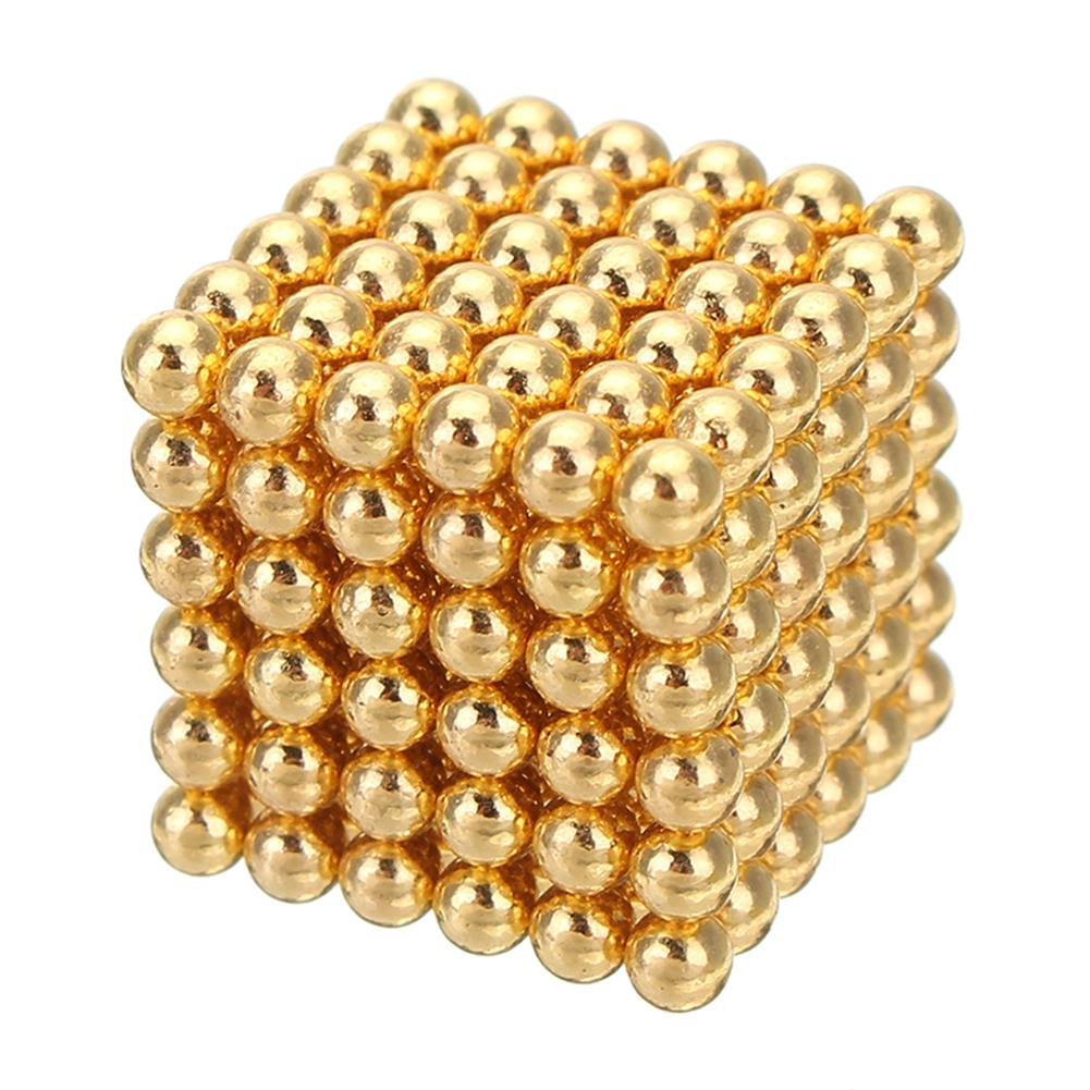 magnetic-toys 1000PCS Per Lot 5mm Magnetic Buck Ball Magnet Gold Color intelligent Stress Reliever Toys Gift Gold HOB1243975