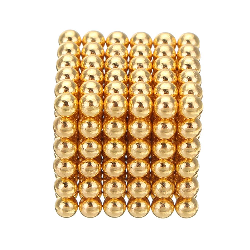 magnetic-toys 1000PCS Per Lot 5mm Magnetic Buck Ball Magnet Gold Color intelligent Stress Reliever Toys Gift Gold HOB1243975 1