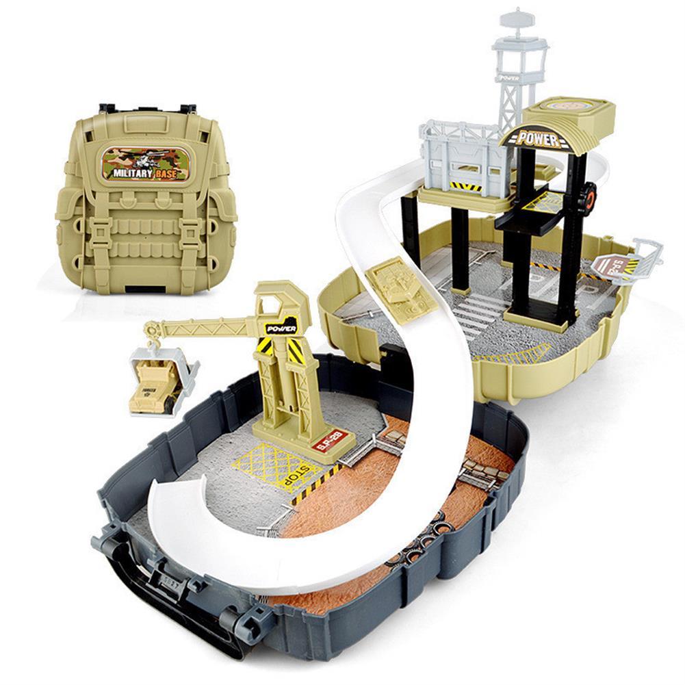 blocks-track-toys Simulation Parking Backpack Engineering Military Track Slide Elevator for Kids Educational Gift Toys HOB1244371