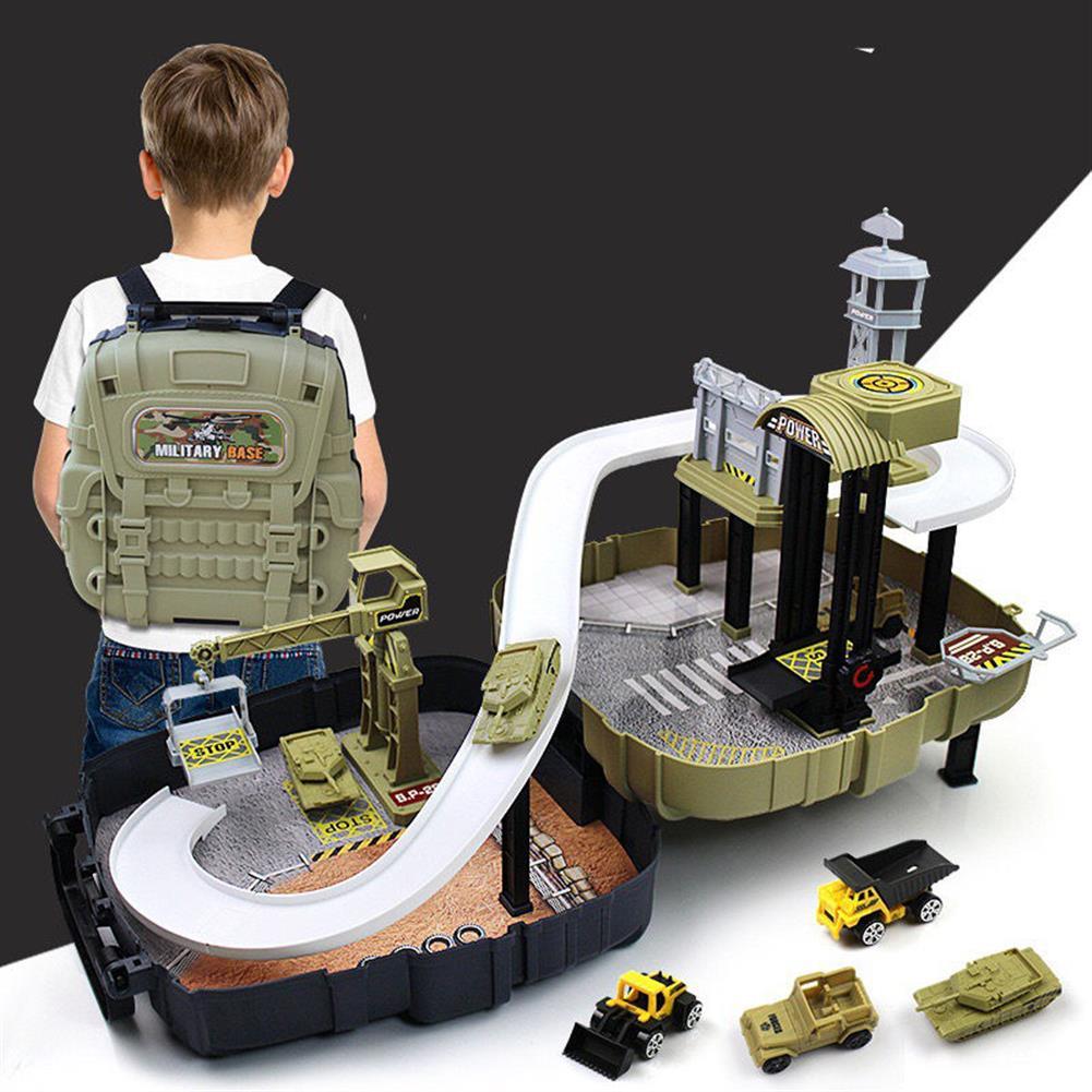 blocks-track-toys Simulation Parking Backpack Engineering Military Track Slide Elevator for Kids Educational Gift Toys HOB1244371 1