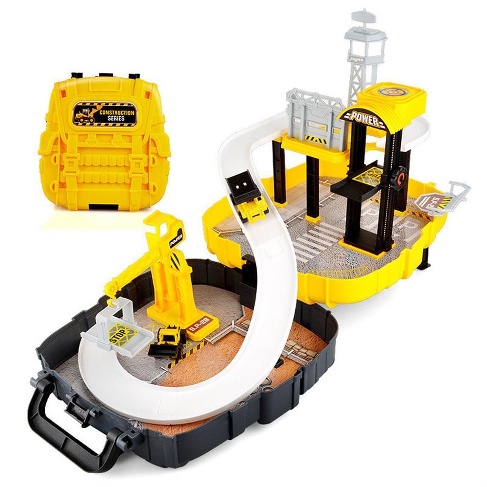blocks-track-toys Simulation Parking Backpack Engineering Military Track Slide Elevator for Kids Educational Gift Toys HOB1244371 2