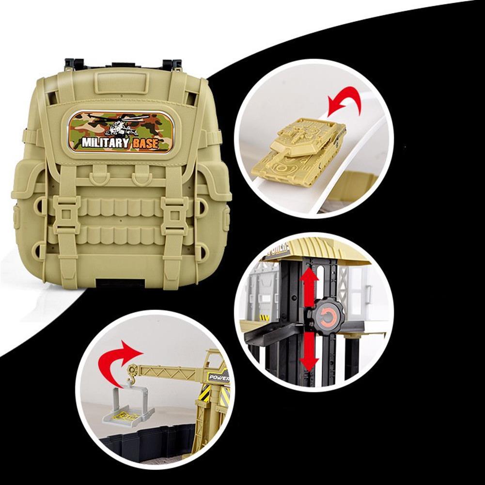 blocks-track-toys Simulation Parking Backpack Engineering Military Track Slide Elevator for Kids Educational Gift Toys HOB1244371 3