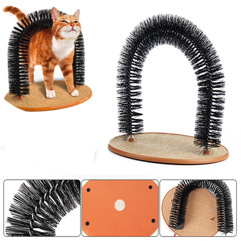 puzzle-game-toys Pet Cat Arch Hair Grooming Scratcher Toy Self-Groomer Toys Massage HOB1247535