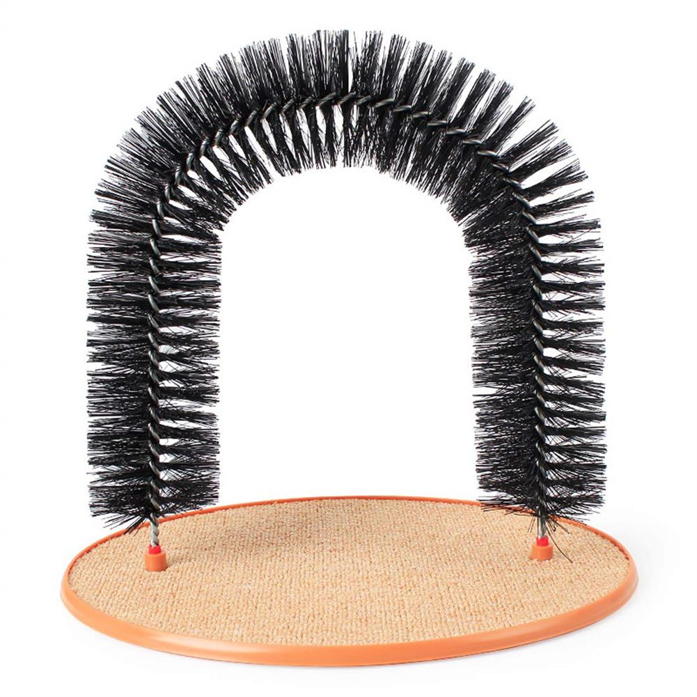 puzzle-game-toys Pet Cat Arch Hair Grooming Scratcher Toy Self-Groomer Toys Massage HOB1247535 2