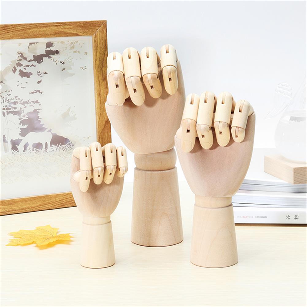 dolls-action-figure Wooden Artist Articulated Left Hand Art Model SKETCH Flexible Decoration HOB1250922