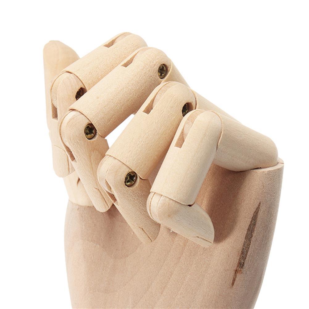 dolls-action-figure Wooden Artist Articulated Left Hand Art Model SKETCH Flexible Decoration HOB1250922 3