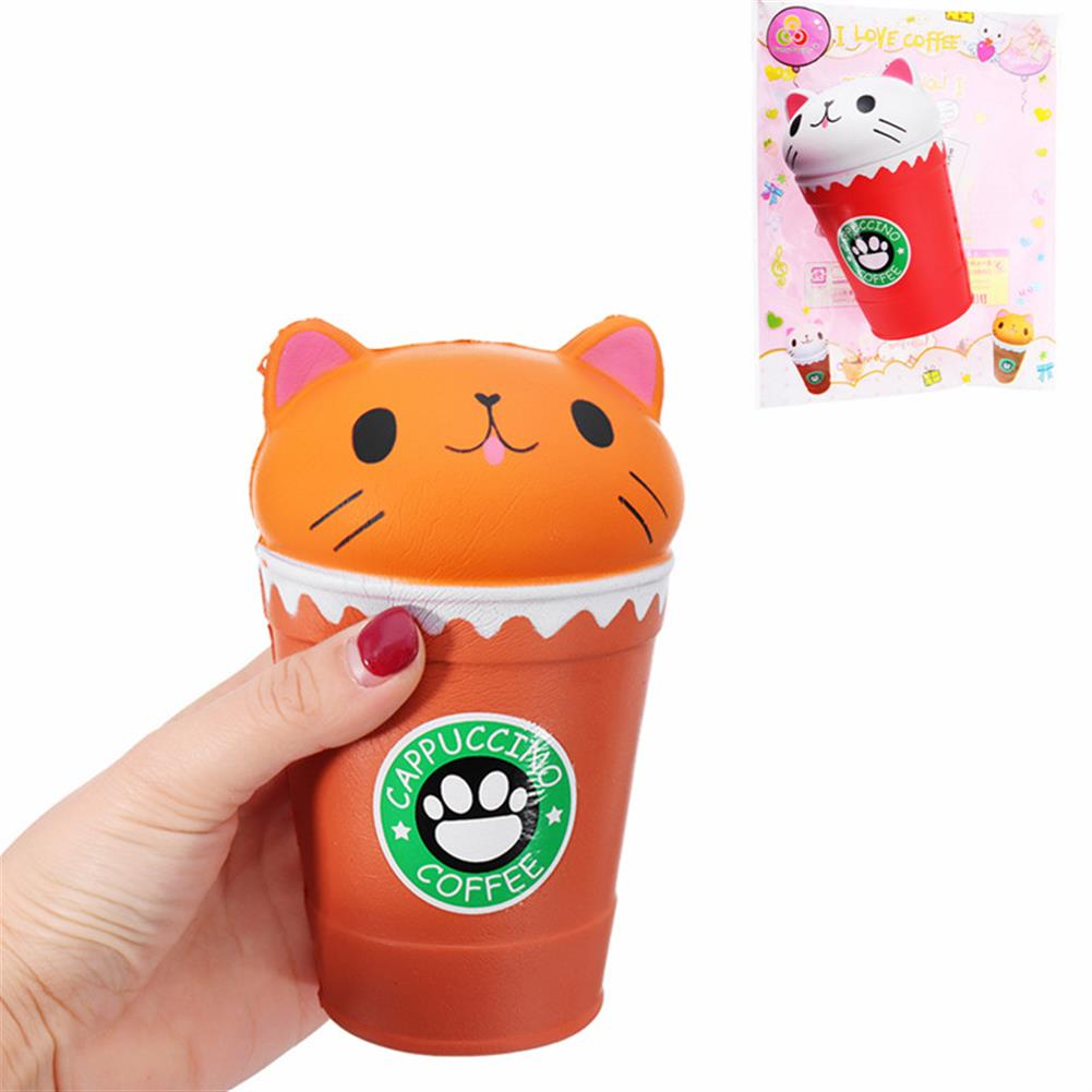 squishy-toys Sunny Squishy Cat Coffee Cup 13.5*8.5CM Slow Rising Soft Animal Toy Gift with Packing HOB1253549