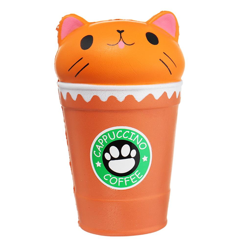 squishy-toys Sunny Squishy Cat Coffee Cup 13.5*8.5CM Slow Rising Soft Animal Toy Gift with Packing HOB1253549 1