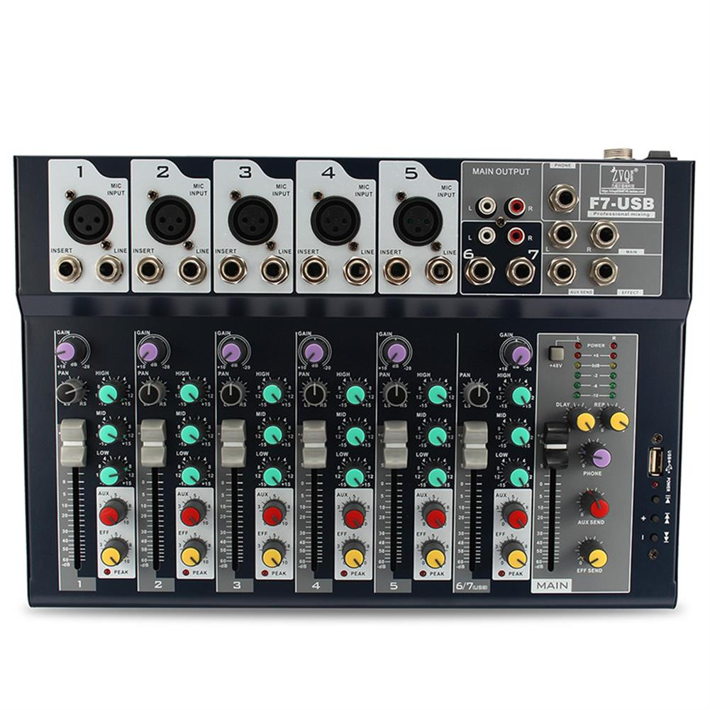 dj-mixers-equipment 7 Channel Professional Stage Live Studio Audio Mixer USB Mixing Console DJ KTV HOB1254223 1