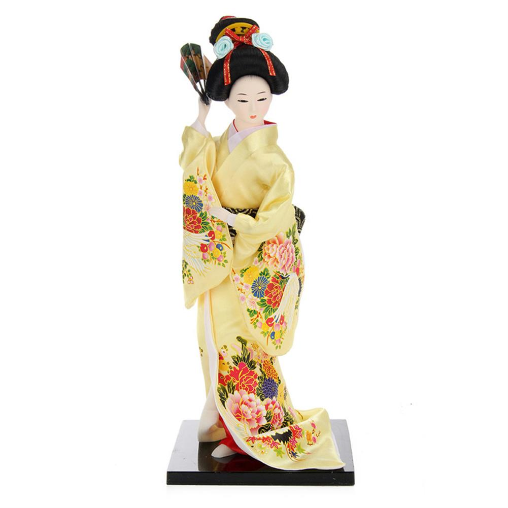 dolls-action-figure 30cm Oriental Japanese Brocade Kimono Kabuki Doll Geisha Action Figure Figurine Statue HOB1256744