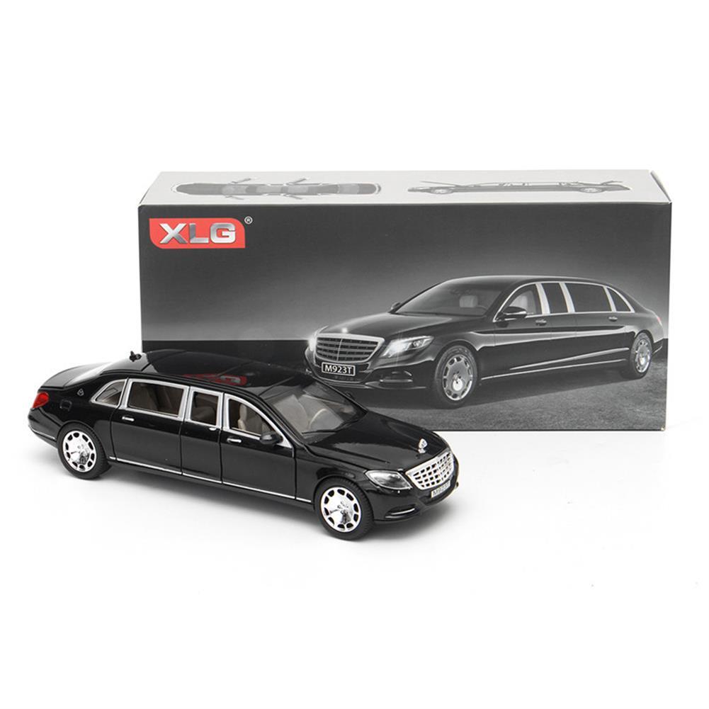 diecasts-model-toys 1:32 S600 Limousine Diecast Metal Car Model 20.5 x 7.5 x 5cm Car in Box Black HOB1261783