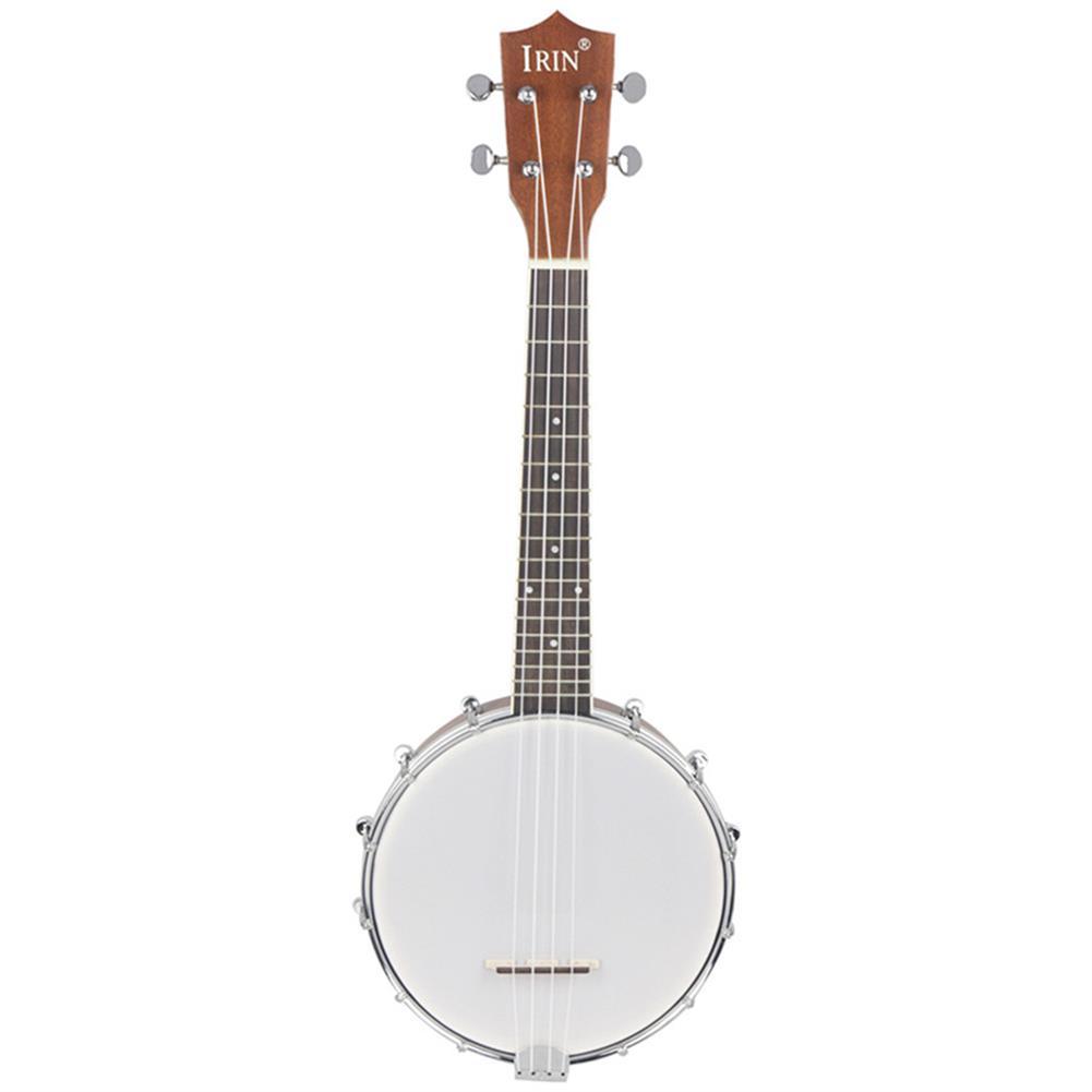 banjo IRIN 23 inch Banjo Sapele Wood 4 Strings Banjolele Concert Size HOB1262373 1