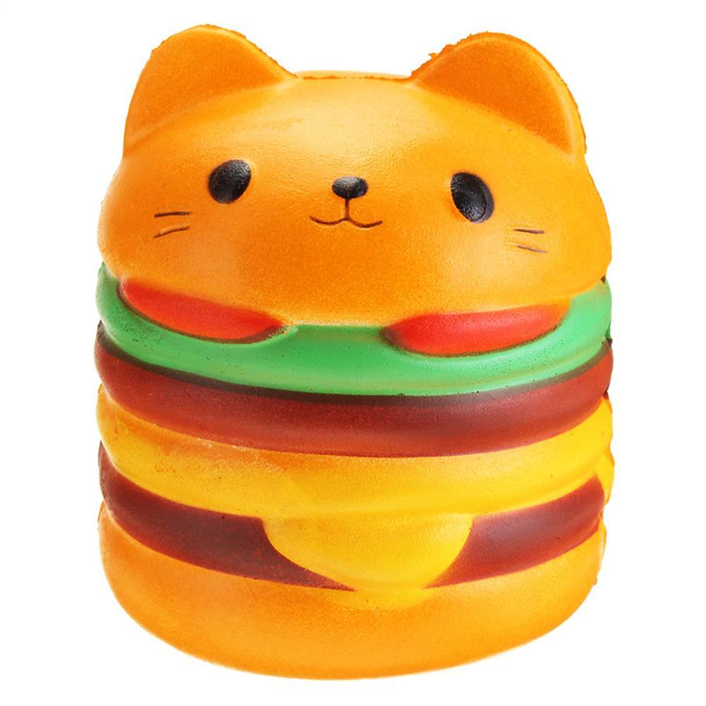 squishy-toys 11*10CM Squishy Cute Hamburger Cat Slow Rising Cartoon Scented Bread Soft Fun Toy HOB1264204