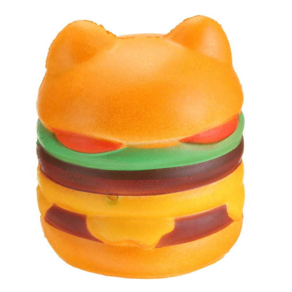 squishy-toys 11*10CM Squishy Cute Hamburger Cat Slow Rising Cartoon Scented Bread Soft Fun Toy HOB1264204 1