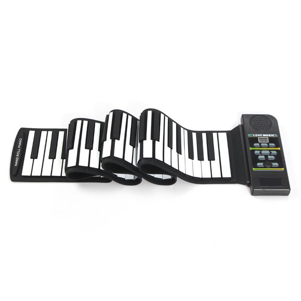 roll-up-piano 88 Key Roll Up Digital Tone Electronic Soft Keyboard Piano MIDI Sustain Pedal HOB1265794