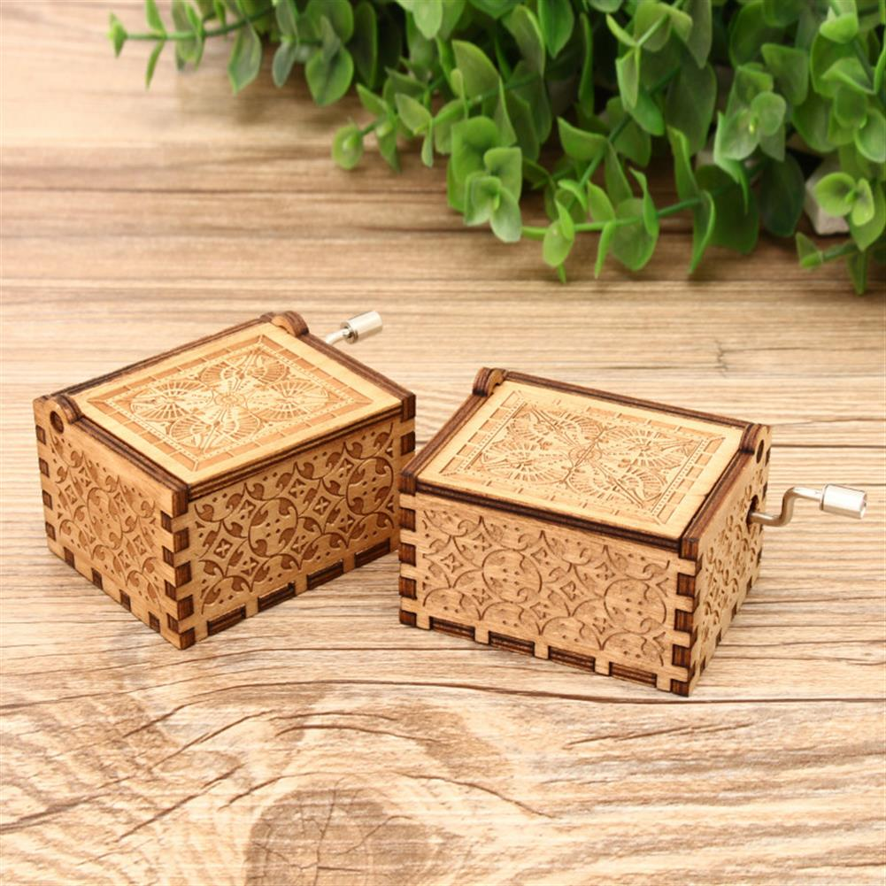 music-box Hand Crank Collectible Music Box Engraved Wooden Box theme Toys Birthday Craft Gifts HOB1268009 1
