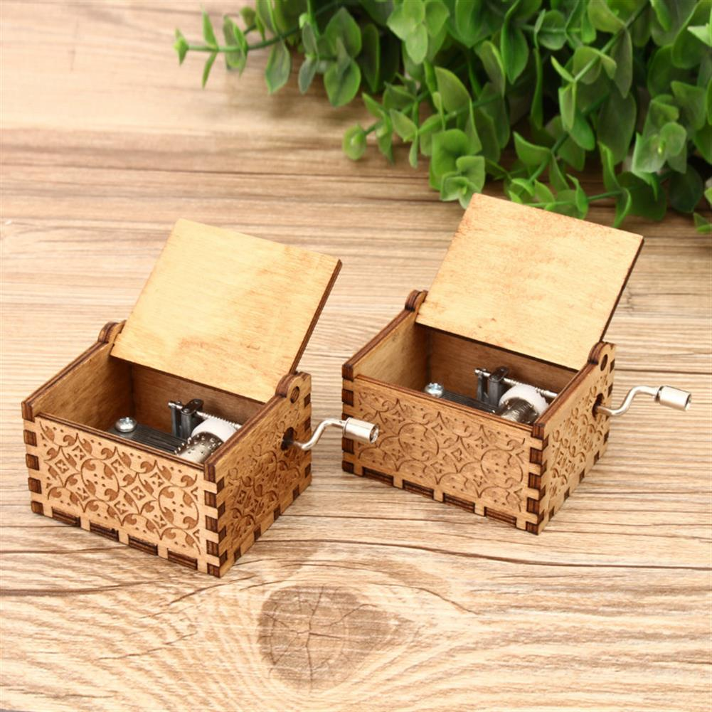 music-box Hand Crank Collectible Music Box Engraved Wooden Box theme Toys Birthday Craft Gifts HOB1268009 2
