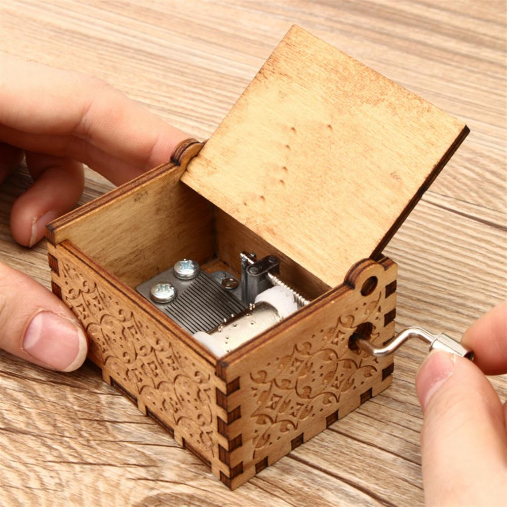 music-box Hand Crank Collectible Music Box Engraved Wooden Box theme Toys Birthday Craft Gifts HOB1268009 3