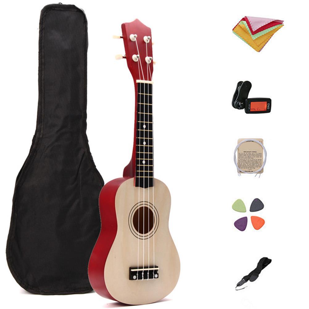 ukulele 21 inch Basswood Ukulele Hawaii Guitar Musical instrument with Tuner Bag HOB1273312