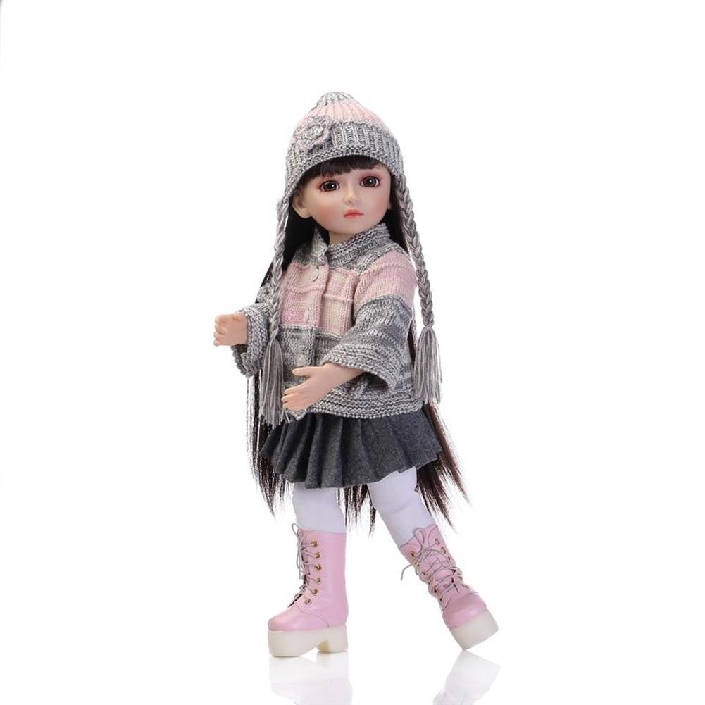 dolls-action-figure NPK 18inch Realistic Reborn Baby Joint BJD Girl Doll Alive Soft Vinyl Toddler Princess Toy HOB1277447
