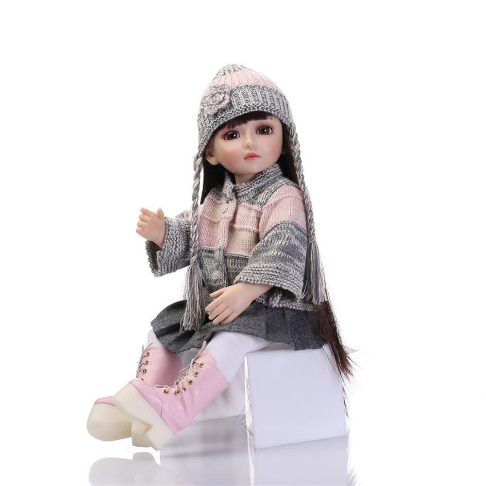dolls-action-figure NPK 18inch Realistic Reborn Baby Joint BJD Girl Doll Alive Soft Vinyl Toddler Princess Toy HOB1277447 1