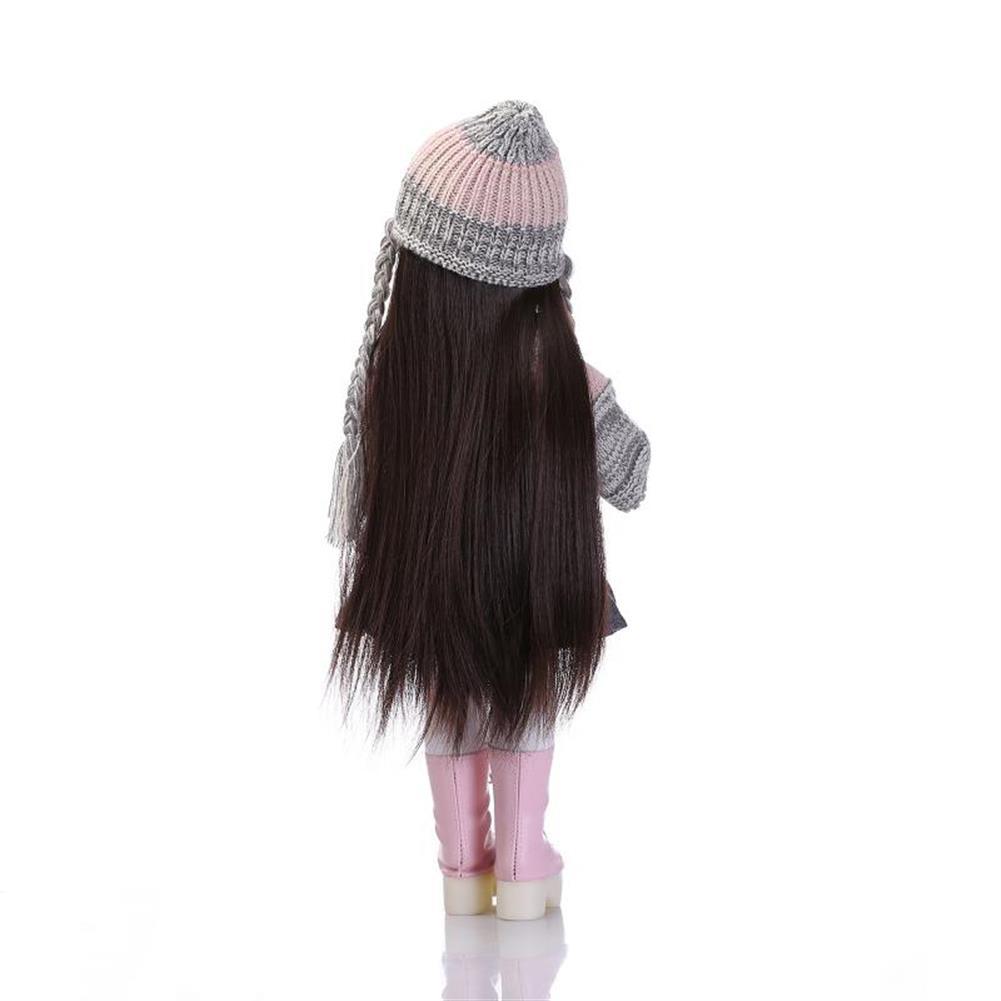 dolls-action-figure NPK 18inch Realistic Reborn Baby Joint BJD Girl Doll Alive Soft Vinyl Toddler Princess Toy HOB1277447 3