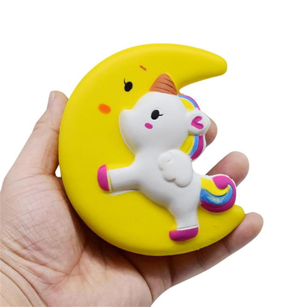 squishy-toys Cartoon Unicorn Moon Pegasus Squishy 11cm Slow Rising with Packaging Collection Gift Soft Toy Yellow HOB1282296 1
