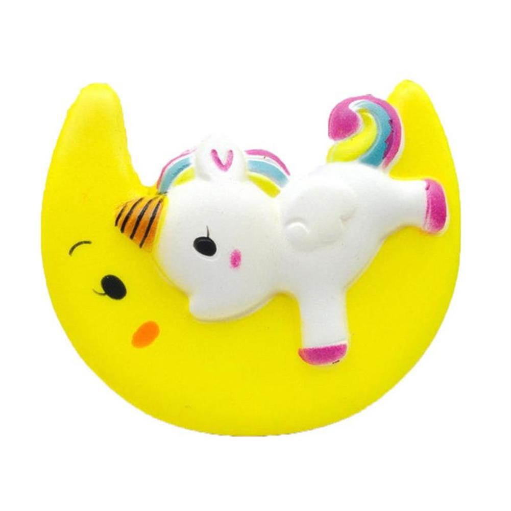 squishy-toys Cartoon Unicorn Moon Pegasus Squishy 11cm Slow Rising with Packaging Collection Gift Soft Toy Yellow HOB1282296 2