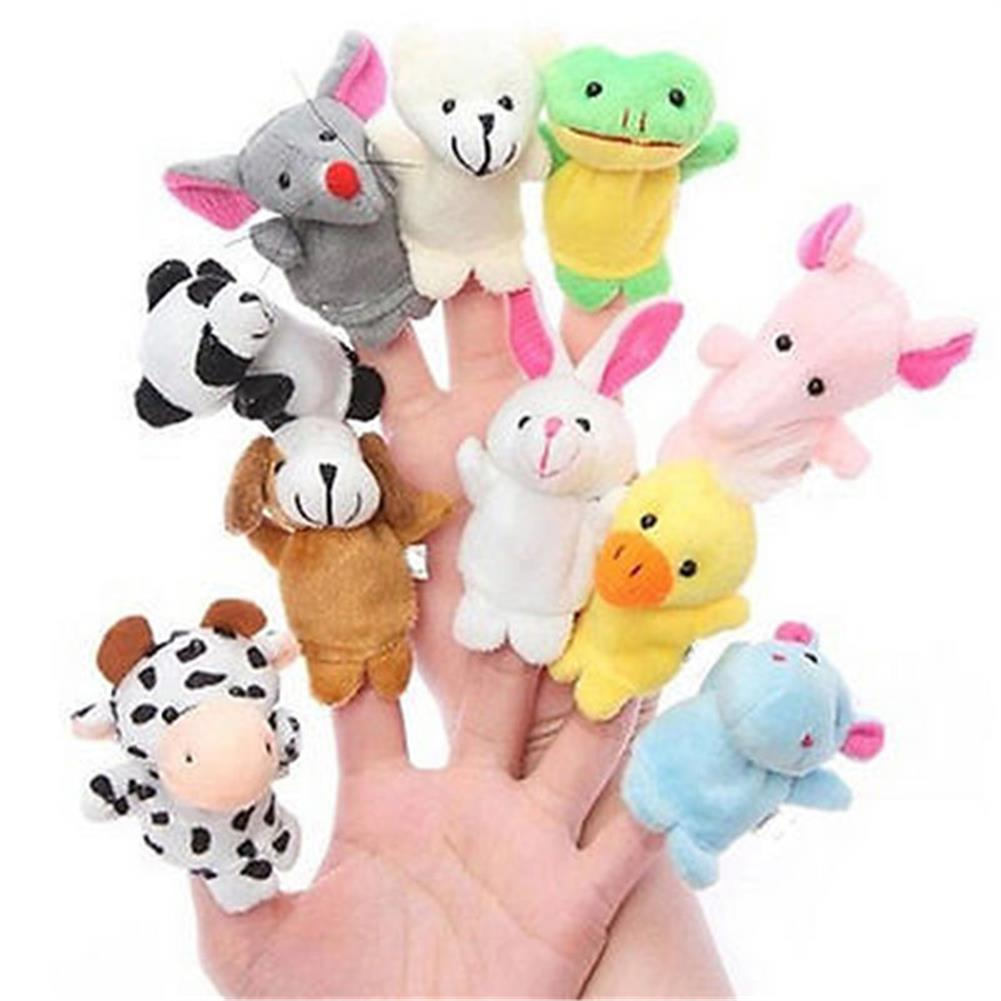 stuffed-plush-toys Farm Zoo Animal Finger Puppets Stuffed Plush Toys Bedtime Story Fairy Tale Fable Boys Girls Party To HOB1282695