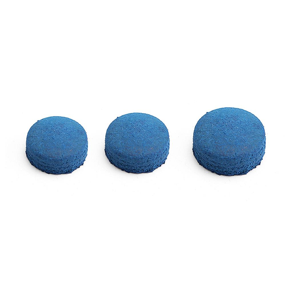 puzzle-game-toys 50Pcs Glue-on Pool Billiards Leather Blue Cue Tips Box Game Sport 9mm 10mm 13mm HOB1286214 3