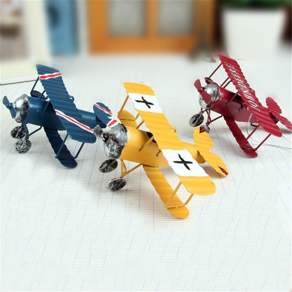 wind-up-tin-toys Zakka Plane Toy Classic Model Collection Childhood Memory Antique Tin Toys Home Decor HOB1295605