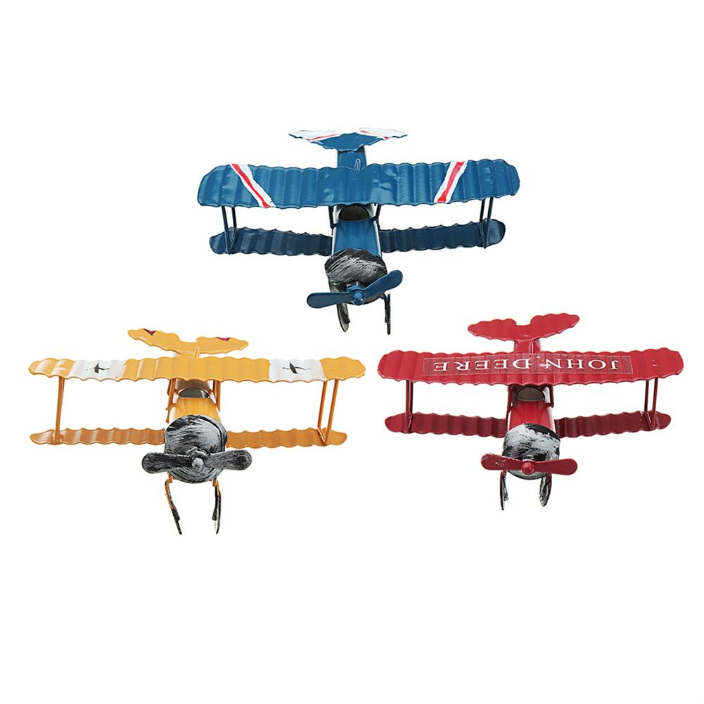 wind-up-tin-toys Zakka Plane Toy Classic Model Collection Childhood Memory Antique Tin Toys Home Decor HOB1295605 1