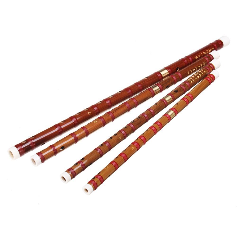 folk-world-winds Chinese Bamboo Woodwind Flute C E F G Key Professional Musical instruments HOB1300183 1