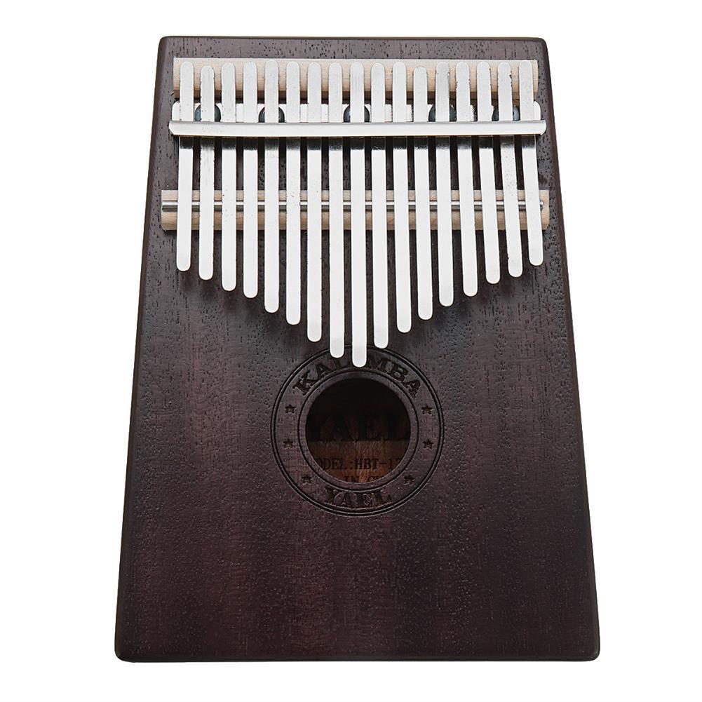 kalimba 17 Keys Wooden Kalimba African Mahogany Thumb Pocket Piano Finger Percussion Music instrument HOB1306253 1