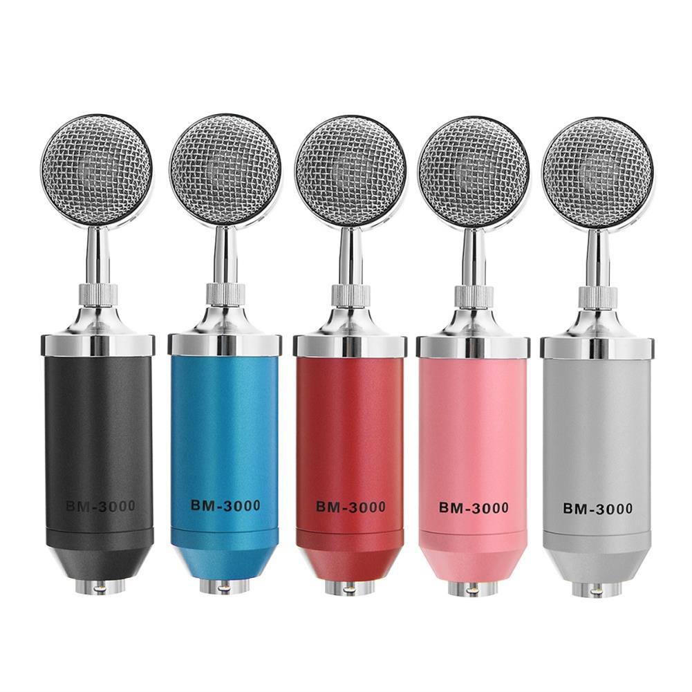 microphones-karaoke-equipment BM-3000 Studio Recording Condenser Microphone Metal Shock Mount for ASMR HOB1306626